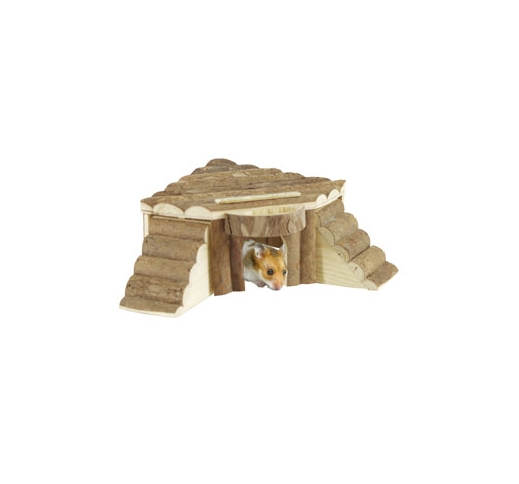 Wooden Hideaway for small animals 17x11x8cm
