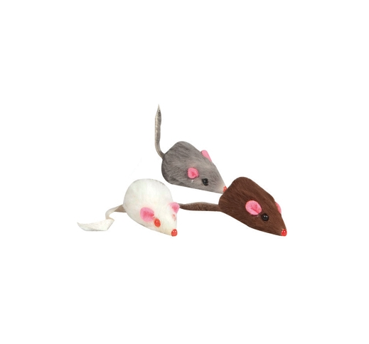 Cat Toy Mouse Natural Leather 5cm