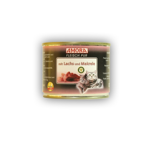 Amora Canned Cat Food (Salmon & Mackerel) 200g