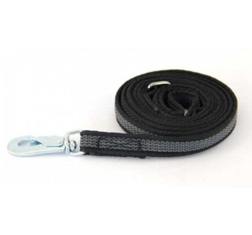 Leash Rubberized BGB Black 200cm x 20mm