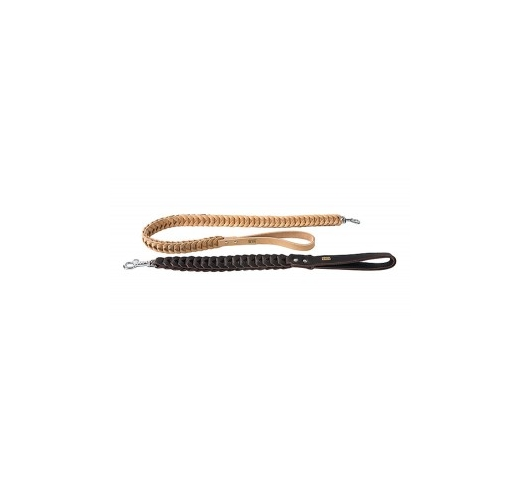 Klin Braided Leash Brown 40mmx60cm