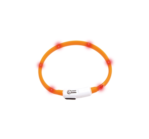 LED Collar Visio Light Orange 20-35cm