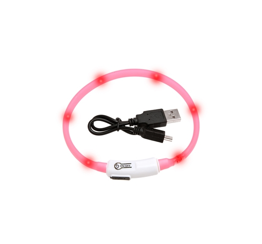 LED Collar Visio Light Pink 35cm