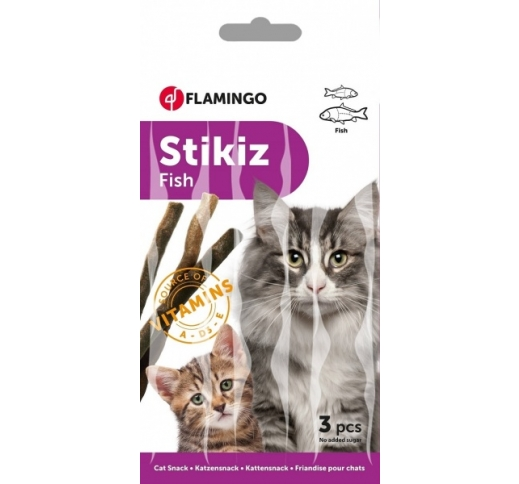Flamingo StickiZ with Fish 3pcs