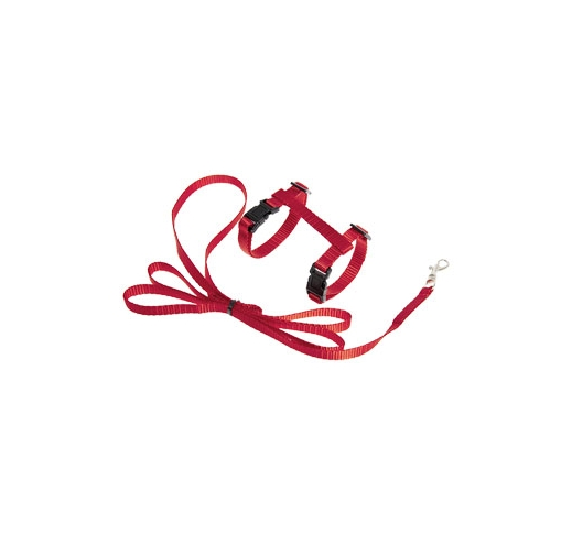 Kitten Harness + Leash Red 120cm