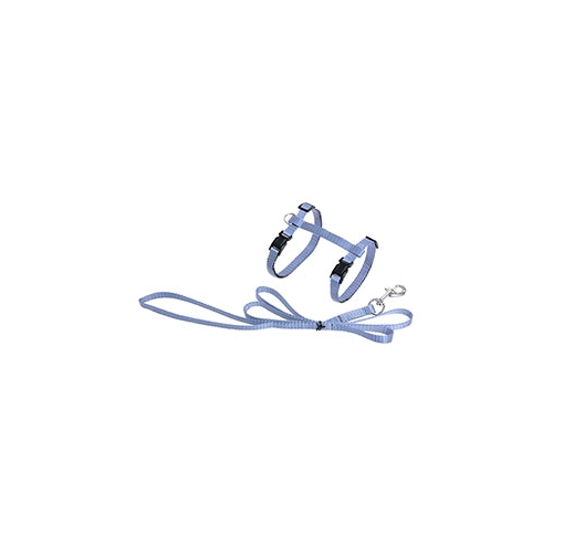 Cat Harness Light Blue with Harness 110cm