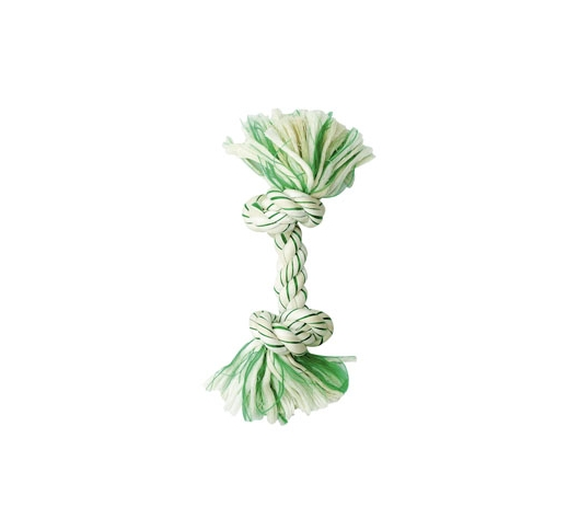 Cotton Rope Mint with 2 Knots 20cm