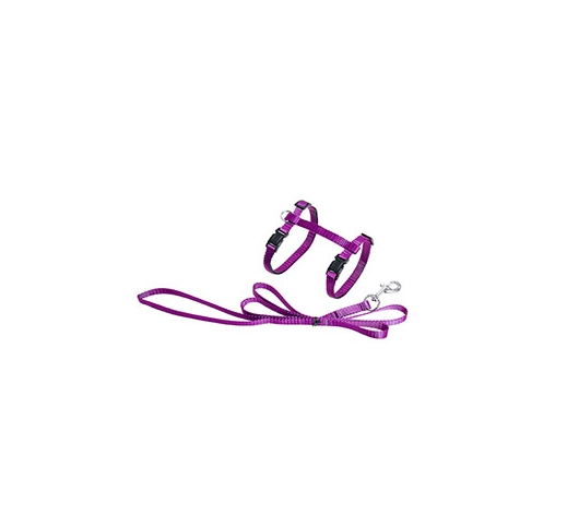 Pink Cat Harness with Leash 110cm