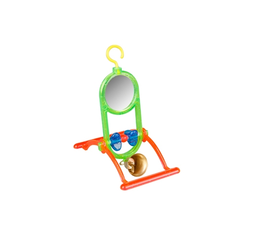 Bird Toy with Mirror and Bell 12x7x16,5cm