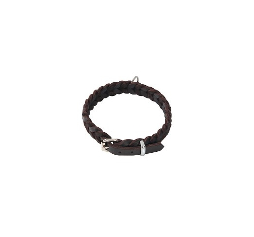 Klin Braided Collar Brown 52-60cm