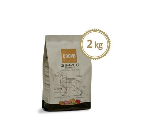 ENOVA Simple Teraviljavaba Täissööt Koerale 2kg