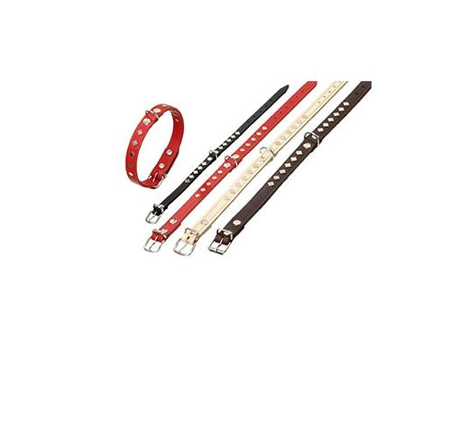 Studded Collar Red 62cm x 25mm