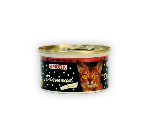Amora Diamond Paste for Cat with Heart & Chicken Liver 85g
