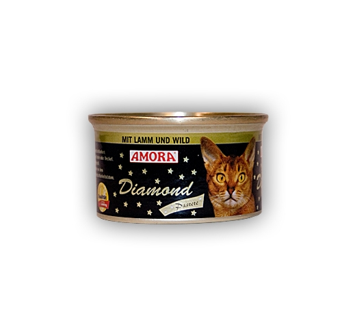 Amora Diamond Pate for Cats with Lamb and Venison 85g