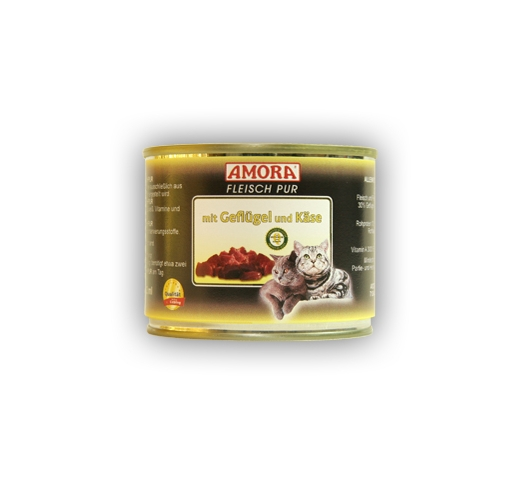 Amora Chicken & Cheese 200g