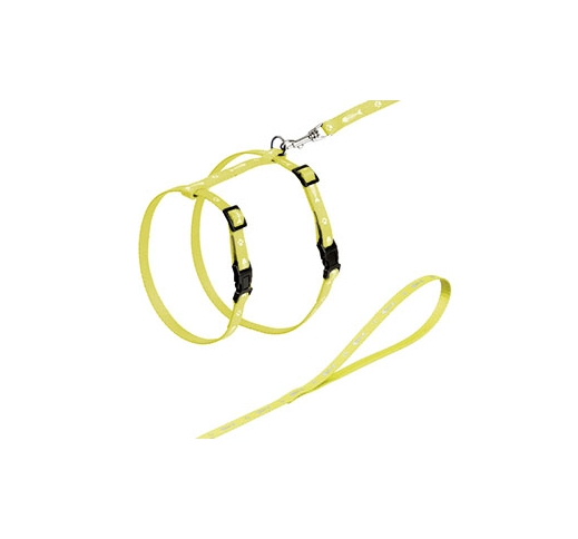Yellow Cat Harness with Leash 110cm