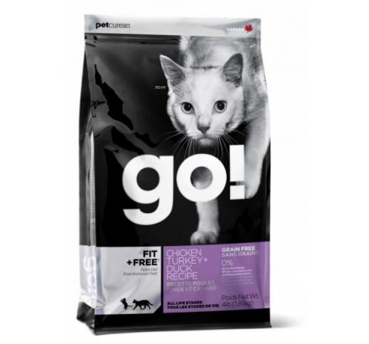 GO! Fit+Free Teraviljavaba Täissööt Kassile  230g