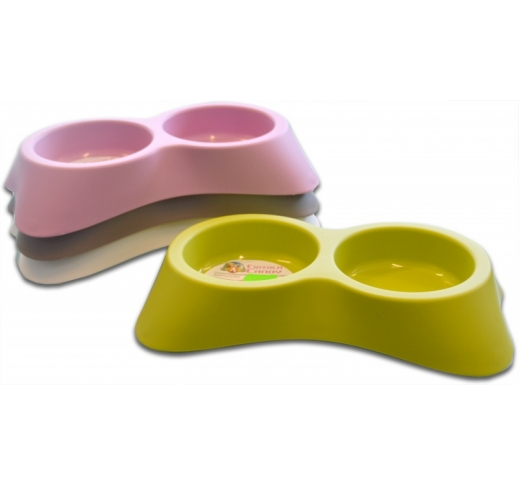 Food Bowl Double Candy 16x25x4,5cm