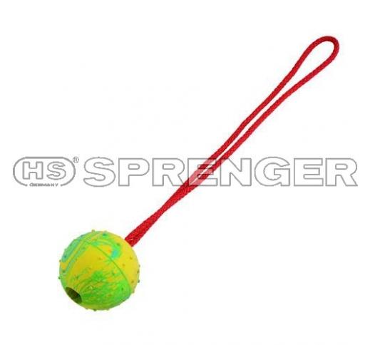 Sprenger Tugevast Kummist Pall Nööriga Ø 7,5cm
