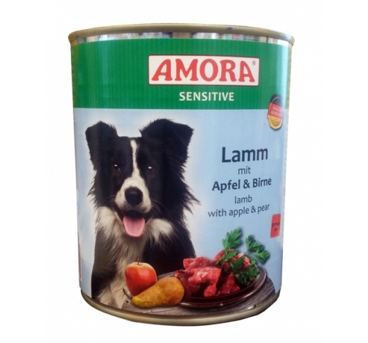 Amora Canned Dog Food Sensitive (Lamb, Apple, Pear) 800g