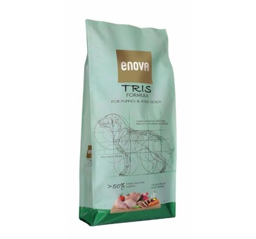 ENOVA Tris Formula Teraviljavaba Täissööt Koerale 12kg