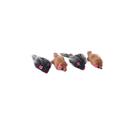 Cat Toy Mouse with Rattle 5cm x 4pcs