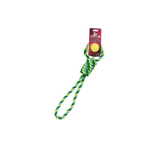 Cotton Ropetug with Tennisball 50cm