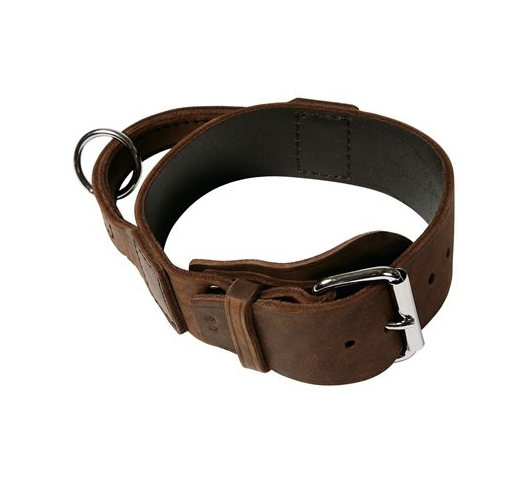 Klin Soft Leather Collar with Handle 25mm x 65cm