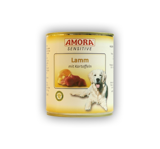 Amora Sensitive Canned Dog Food (Lamb & Potato) 800g