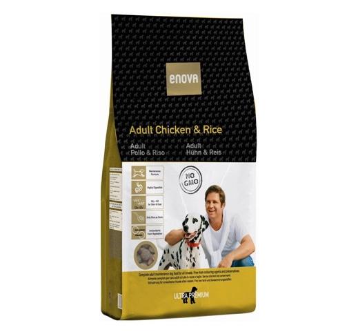 ENOVA Kana & Riis Täissööt Täiskasvanud Koerale 14kg