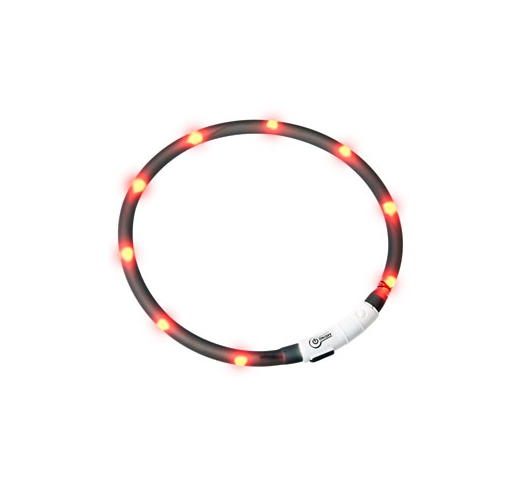 LED Collar Visio Light Black 70cm