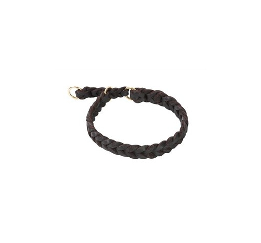 Klin Braided Leather Collar 40-45cm