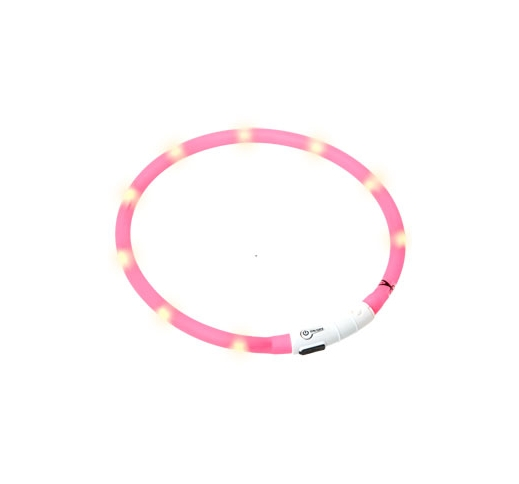 LED Collar Visio Light Pink 70cm
