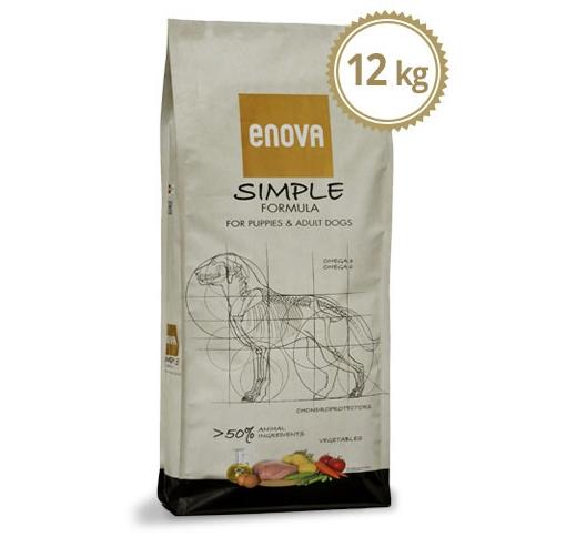 ENOVA Simple Teraviljavaba Täissööt Koerale 12kg