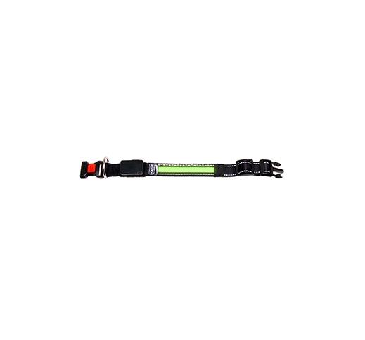 LED Kaelarihm Roheline 34-36cm + USB Laadija