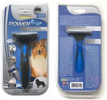Powerfur Shedding Brush for Long Haired Dogs 9-24kg