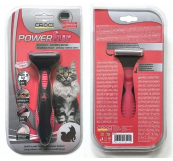 Powerfur Shedding Brush for Long Haired Cats S