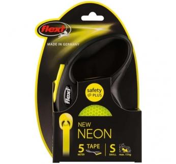 Flexi S Neon Must/Kollane Lint 5m 15kg