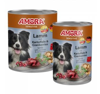Amora Sensitive консервы для собак -  баранина и картошка 400г