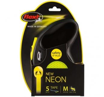 Flexi M Neon Must/Kollane Lint 5m 25kg