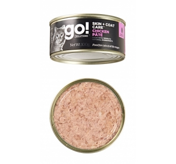 Go! Skin + Coat Pate for Cats with Chicken 100g