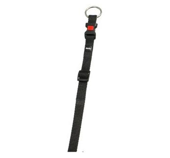 Collar Ziggi Nylon Black 45-65cm 25mm