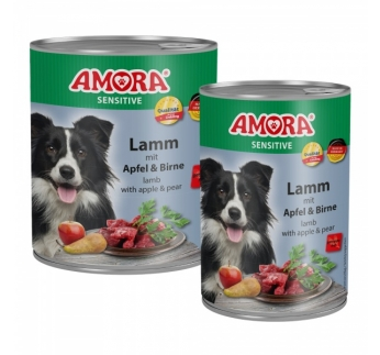Amora Canned Dog Food Sensitive (Lamb, Apple, Pear) 400g