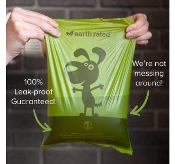 """Пакеты биоразлагаемые """"Earth Rated"""" для выгула собак, 15шт"""