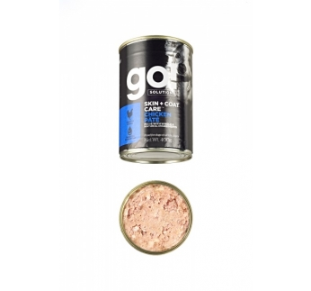 6x GO! Skin + Coat Chicken Pate for Dogs 400g