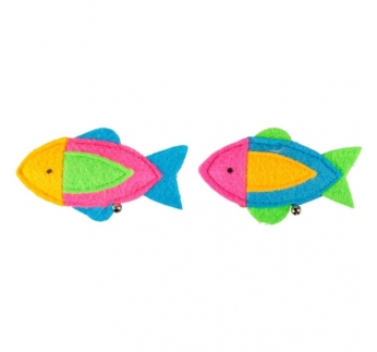 Cat Toy Fishy with Bell & Catnip 11cm