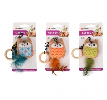 Cat Toy Kirk Owl on a Rope