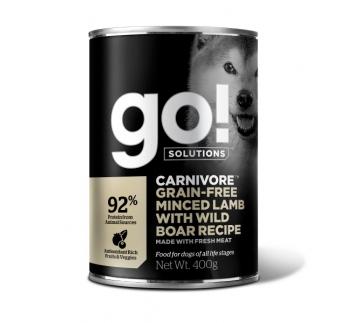 6x GO! Carnivore Konserv Hakitud Lambaliha & Metssealiha Koerale 400g