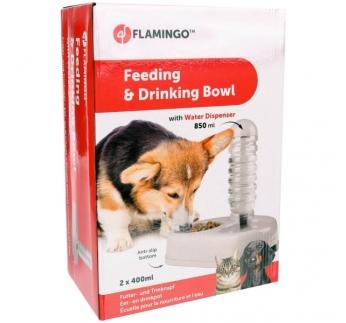 Feeding Bowl with Water Dispenser 850ml 32x22x30,5cm