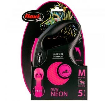 Flexi New Neon M Pink 5m Tape 25kg